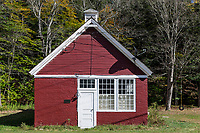 One room schoolhouse, Peaseville School, Chester, Vermont, USA.