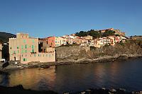 Village of Collioure, France, looking along la rue Bellevue towards the hill from the Chapelle de Saint Vincent. Picture by Manuel Cohen.