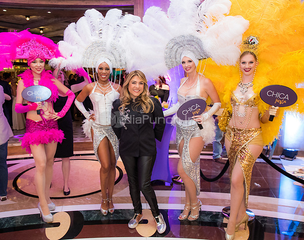 LAS VEGAS, NV - May 12, 2017: ***HOUSE COVERAGE*** Lorena Garcia and Showgirls pictured at Chica Las Vegas Grand Opening at The Venetian Las Vegas in Las Vegas, NV on May 12, 2017. Credit: Erik Kabik Photography/ MediaPunch