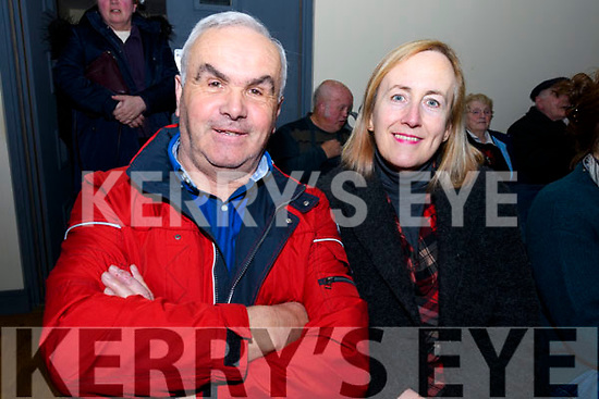 Tommy and Marie Moriarty enjoying the Ceolchoirm 'Mórtas Cine' during Scoil Cheoil an Earraigh at Halla na Feothanaí on Friday night.