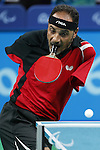 Ibrahim Hamadtou (EGY),<br /> SEPTEMBER 9, 2016 - Table Tennis : <br /> Men's Singles Class 6 Group Stage<br /> at Riocentro - Pavilion 3<br /> during the Rio 2016 Paralympic Games in Rio de Janeiro, Brazil.<br /> (Photo by Shingo Ito/AFLO)