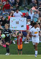 Boyds, MD - Saturday Sept. 03, 2016: Washington Spirit fan during a regular season National Women's Soccer League (NWSL) match between the Washington Spirit and the Western New York Flash at Maureen Hendricks Field, Maryland SoccerPlex.