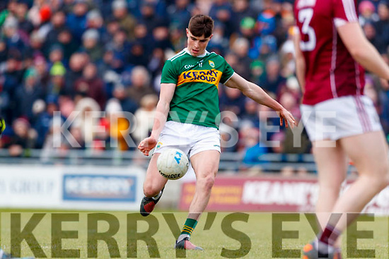 Séan O'Shea Kerry in action against  Galway in the Allianz Football League Division 1 Round 4 match between Kerry and Galway at Austin Stack Park, Tralee, Co. Kerry.