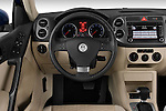 Steering wheel view of a 2009 Volkswagen Tiguan SEL