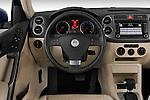 Steering wheel view of a 2009 Volkswagen Tiguan SEL