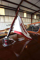 NWA Democrat-Gazette/FLIP PUTTHOFF <br /> Wilkey restored this Lyman power boat to new        April 20 2018       condition and is working on another.