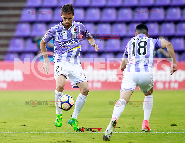 Real Valladolid's Michel Herrero (l) and Cristian Espinoza during La Liga Second Division match. June 10,2017. (ALTERPHOTOS/Acero) (NortePhoto.com) (NortePhoto.com)