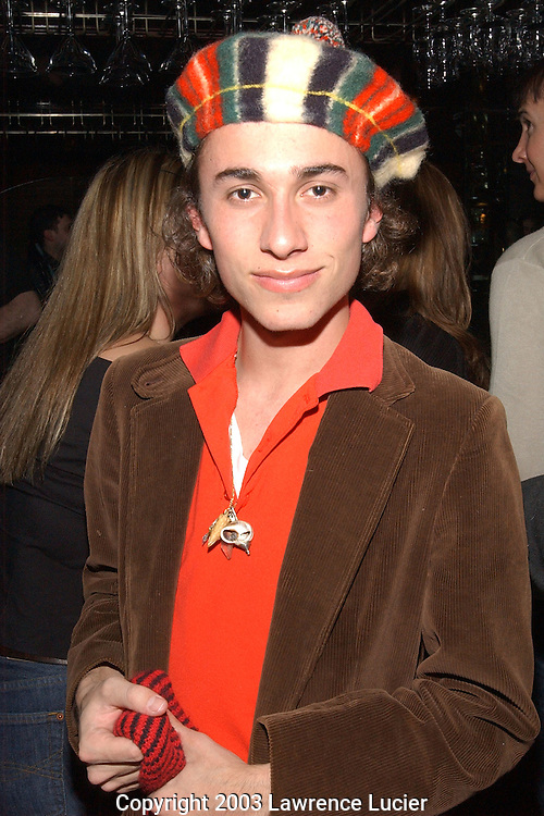 NEW YORK-FEBRUARY 16: Designer Esteban Cortazar appears at the Mao Space After Party at the Library Bar in Ian Schrager's Paramount Hotel February 16, 2003, in New York City. (Photo By Lawrence Lucier)