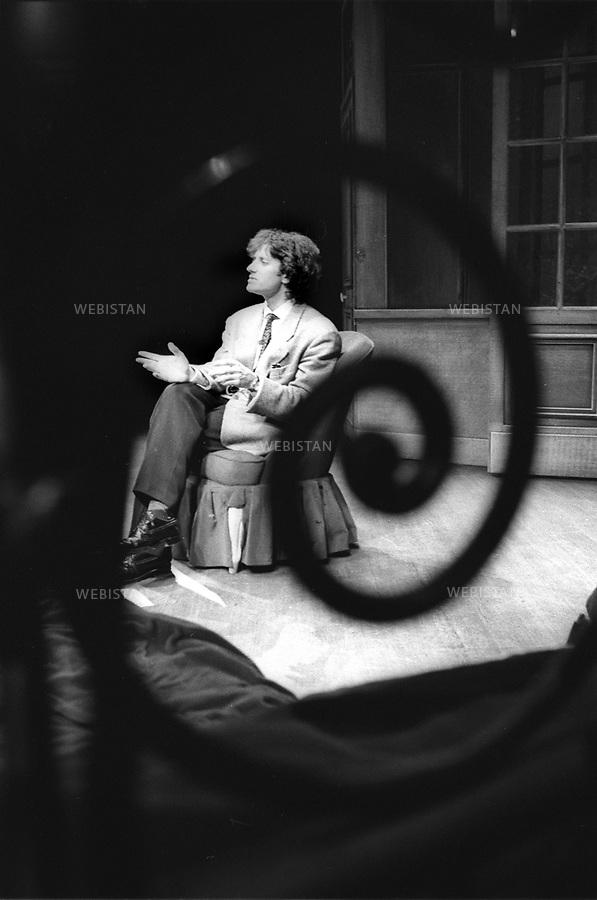 21/04/1989. France. L'acteur français Francis Huster. France. French acteur Francis Huster.
