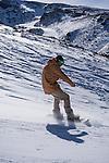 Snowboard in Sierra Nevada, Granada, Andalusia, Spain