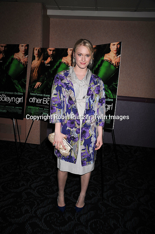 """Leven Rambin in  Alberta Feretti dress.at a special screening of """"The Other Boleyn Girl"""" on .February 26, 2008 at The Regal 64th and 2nd Avenue in .New York City. .Robin Platzer, Twin Images..212-935-0770"""