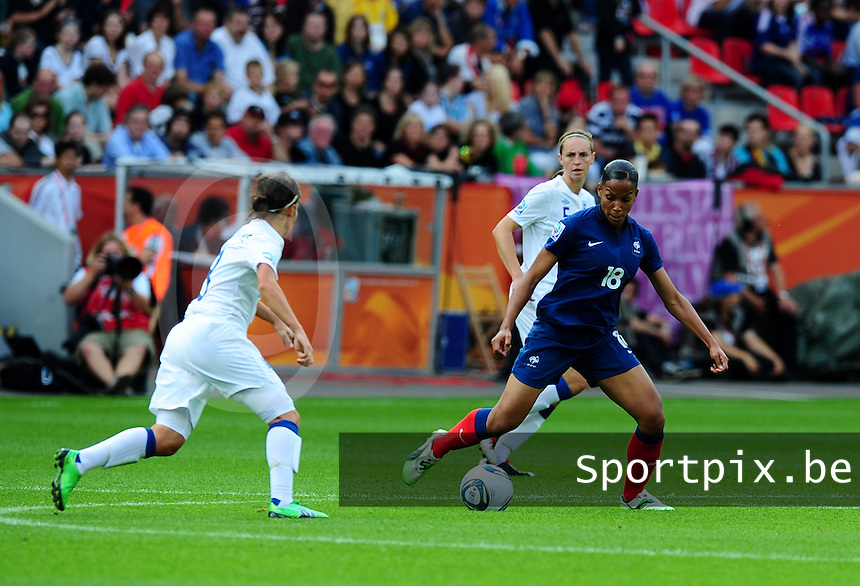 Fifa Women's World Cup Germany 2011 : England - France - at Leverkusen :  Marie-Laure Delie.foto DAVID CATRY / Vrouwenteam.be