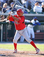 2007:  Freddy Galvis of the Williamsport Crosscutters, Class-A affiliate of the Philadelphia Phillies, during the New York-Penn League baseball season.  Photo By Mike Janes/Four Seam Images