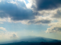 Clouds drift over Hualalai on the Big Island.