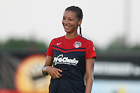 Piscataway, NJ - Saturday July 23, 2016: Estelle Johnson during a regular season National Women's Soccer League (NWSL) match between Sky Blue FC and the Washington Spirit at Yurcak Field.