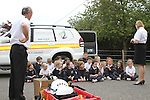 Coastguard giving a water safety talk at S.N. Muire Gan Smal, Cartown, Co.Louth...(Photo credit should read Jenny Matthews www.newsfile.ie)....This Picture has been sent you under the conditions enclosed by:.Newsfile Ltd..The Studio,.Millmount Abbey,.Drogheda,.Co Meath..Ireland..Tel: +353(0)41-9871240.Fax: +353(0)41-9871260.GSM: +353(0)86-2500958.email: pictures@newsfile.ie.www.newsfile.ie.