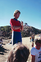 Wayne 'Rabbit' Batholomew and Bruce Raymond (AUS).(Steve Robbo in background) Bells Beach Australlia 1980. Photo:  joliphotos.com