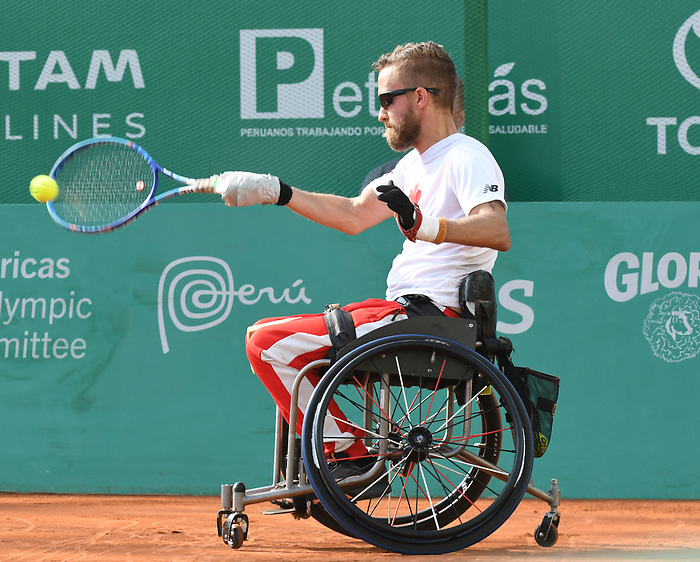 Rob Shaw, competes in the wheelchair tennis at the 2019 ParaPan American Games in Lima, Peru-30aug2019-Photo Scott Grant