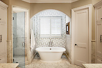 Sophie, a handmade mosaic, is part of the Silk Road Collection by Sara Baldwin for New Ravenna.<br />