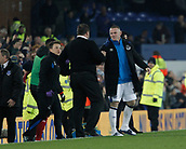 5th November 2017, Goodison Park, Liverpool, England; EPL Premier League Football, Everton versus Watford; Wayne Rooney of Everton congratulates Everton caretaker David Unsworth at the final whistle