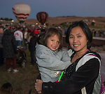 Ying Ying Li and 3 1/2 year old Sonia at the Great Reno Balloon Races held on Saturday, Sept. 10, 2016.