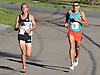 Aaron Braun of Flagstaff, AZ, left, and Stephen Pifer of Superior, CO set the pace in Northport's annual Cow Harbor 10K run on Saturday, Sept. 17, 2016. Braun won the race with a time of 29:23.92 while Pifer finished second at 29:37.53.