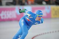 SCHAATSEN: BOEDAPEST: Essent ISU European Championships, 07-01-2012, 5000m Men, Luca Stefani ITA, ©foto Martin de Jong