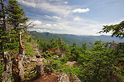 July 2013 - View from Mount Tecumseh in Waterville Valley, New Hampshire. Ongoing vandalism (tree cutting) has improved the view from the summit. Forest Service verified the cutting is illegal and unauthorized.
