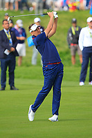 Ian Poulter (Team Europe) on the 4th fairway during the Friday Foursomes at the Ryder Cup, Le Golf National, Ile-de-France, France. 28/09/2018.<br /> Picture Thos Caffrey / Golffile.ie<br /> <br /> All photo usage must carry mandatory copyright credit (© Golffile | Thos Caffrey)