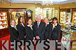 Staff at Hilsers Jewellers Tralee from left Ciara Murphy, Elaine O'Donoghue, Ciara Nolan, Billy Nolan, Louise Nolan and Abina Laide.