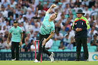 Rikki Clarke in bowling action for Surrey during Surrey vs Essex Eagles, Vitality Blast T20 Cricket at the Kia Oval on 12th July 2018