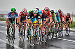 Splits and echelons were the order of the day during a very wet and windy Stage 3 of the 52nd Tour of Turkey running 158.9km from Aksaray to Konya, Turkey. 26th April 2016.<br /> Picture: Tour of Turkey/Brian Hodes | Newsfile<br /> <br /> <br /> All photos usage must carry mandatory copyright credit (© Newsfile | Tour of Turkey/Brian Hodes)
