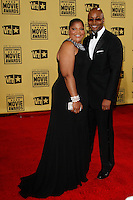 January 15, 2010:  Mo'Nique and husband Sidney Hicks arrives at the 15th Annual Critics' Choice Movie Awards held at the Palladium in Los Angeles, California. .Photo by Nina Prommer/Milestone Photo