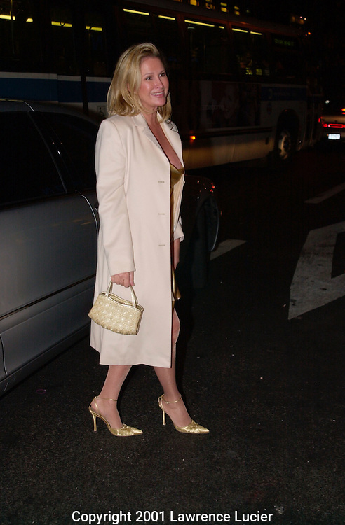 Kathy Hilton  arrives at a benefit in Manhattan on October 17, 2001.