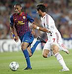 Barcelona's Seydou Keita and AC Milan's Pato during Champions League match on september 13th 2011...Photo: Cesar Cebolla / ALFAQUI