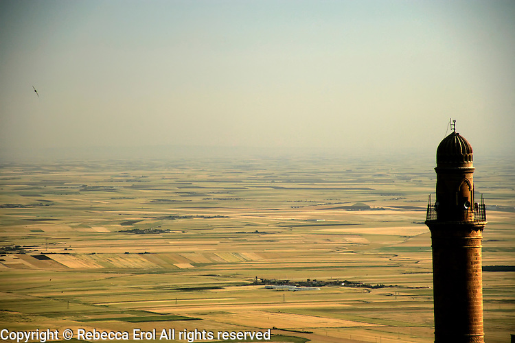 Looking out from Mardin over towards the Syrian plains, southeastern Turkey