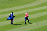 Richard Sterne (RSA), Ashley Chesters (ENG) during the second round of the NBO Open played at Al Mouj Golf, Muscat, Sultanate of Oman. <br /> 16/02/2018.<br /> Picture: Golffile | Phil Inglis<br /> <br /> <br /> All photo usage must carry mandatory copyright credit (&copy; Golffile | Phil Inglis)