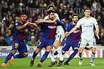 UEFA Champions League 2017/2018.<br /> Round of 16 2nd leg.<br /> FC Barcelona vs Chelsea FC: 3-0.<br /> Paulinho, Andre Gomes, Marcos Alonso, Gerard Pique &amp; Andreas Christensen.
