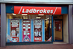 Ladbrokes betting shop window display