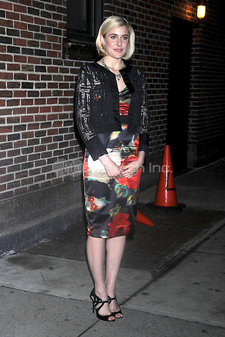 Greta Gerwig visits 'Late Show With David Letterman' at the Ed Sullivan Theater on January 19, 2011 in New York City.  Credit: Dennis Van Tine/MediaPunch