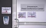 FussballFussball: agnph001:  1. Bundesliga Saison 2019/2020 27. Spieltag 23.05.2020<br /> SC Freiburg - SV Werder Bremen<br /> Der Zugang zum Pressekonferenz Raum im Schwarzwald Stadion vor dem Spiel.<br /> FOTO: Markus Ulmer/Pressefoto Ulmer/ /Pool/gumzmedia/nordphoto<br /> <br /> Nur für journalistische Zwecke! Only for editorial use! <br /> No commercial usage!