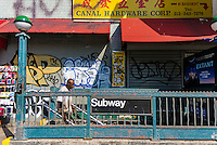 New York, NY 7 July 2014 - the Canal Street entrance to the IND subway lines. © Stacy Walsh Rosenstock/Alamy