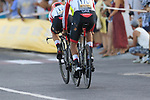 UAE Team Emirates injured in a crash during Stage 1 of La Vuelta 2019, a team time trial running 13.4km from Salinas de Torrevieja to Torrevieja, Spain. 24th August 2019.<br /> Picture: Eoin Clarke | Cyclefile<br /> <br /> All photos usage must carry mandatory copyright credit (© Cyclefile | Eoin Clarke)