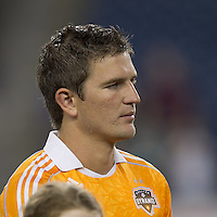 Houston Dynamo defender Bobby Boswell (32). In a Major League Soccer (MLS) match, the New England Revolution tied Houston Dynamo, 1-1, at Gillette Stadium on August 17, 2011.