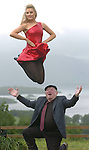 Well Holy God.. but can she fly....<br />Irish dancer Kelly McDonald who will represent Clare in the Miss Ireland contest at the end of this month flies into the arms of Deputy Jackie Healy-Rae during a photo shoot in Killarney on Monday. Kelly, who holds a master degree in Irish dancing is lead dancer with renowned musician Liam O'Connor and in the past has performed with Michael Flately. Deputy Healy-Rae reckons Kelly would make an ideal representative for Ireland at the Miss World competition in Poland later in the year.<br />Picture by Don MacMonagle