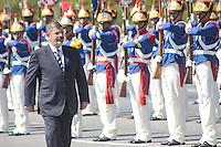 BRASÍLIA, DF 08 DE MAIO 2013 - CERIMÔNIA OFICIAL DE CHEGADA DO PRESIDENTE DO EGITO NO PALÁCIO DO PLANALTO - O  presidente do Egito Mohamed Morsi, na chegada ao Palácio do Planalto nesta manhã de quarta-feira (08). FOTO RONALDO BRANDÃO / BRAZIL PHOTO PRESS