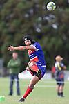 Latiume Fosita kicks a conversion. Counties Manukau Premier Club Rugby game between Karaka and Ardmore Marist, played at the Karaka Sports Park on Saturday April 21st 2008. Ardmore Marist won the game 29 - 7 after being 7 all at halftime.<br /> Karaka 7 -Kalione Hala try, Juan Benadie conversion.<br /> Ardmore Marist South Auckland Motors (Counties Power Cup Holders) 29 - Sione Tuipulotu, Bryan Mulitalo, Damon Leasuasu, Joseph Ikenasio tries, Latiume Fosita 3 conversions, Latiume Fosita penalties.<br /> Photo by Richard Spranger