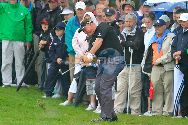 Darren Clarke plays his 2nd shot from the rough on the 17th hole during Day 2 of the 3 Irish Open at the Killarney Golf & Fishing Club, 30th July 2010..(Picture Eoin Clarke/www.golffile.ie)