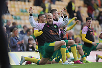 Teemu Pukki of Norwich City warming up pre game. Norwich City vs Aston Villa, Premier League Football at Carrow Road on 5th October 2019