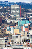 Sheffield City Centre with Sheffield University Arts Tower in distance